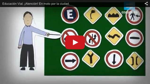 Educación Vial. ¡Atención! En moto por la ciudad.» en YouTube