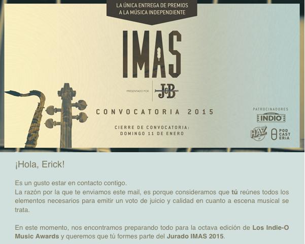 Entrega Premios IMAS 2015