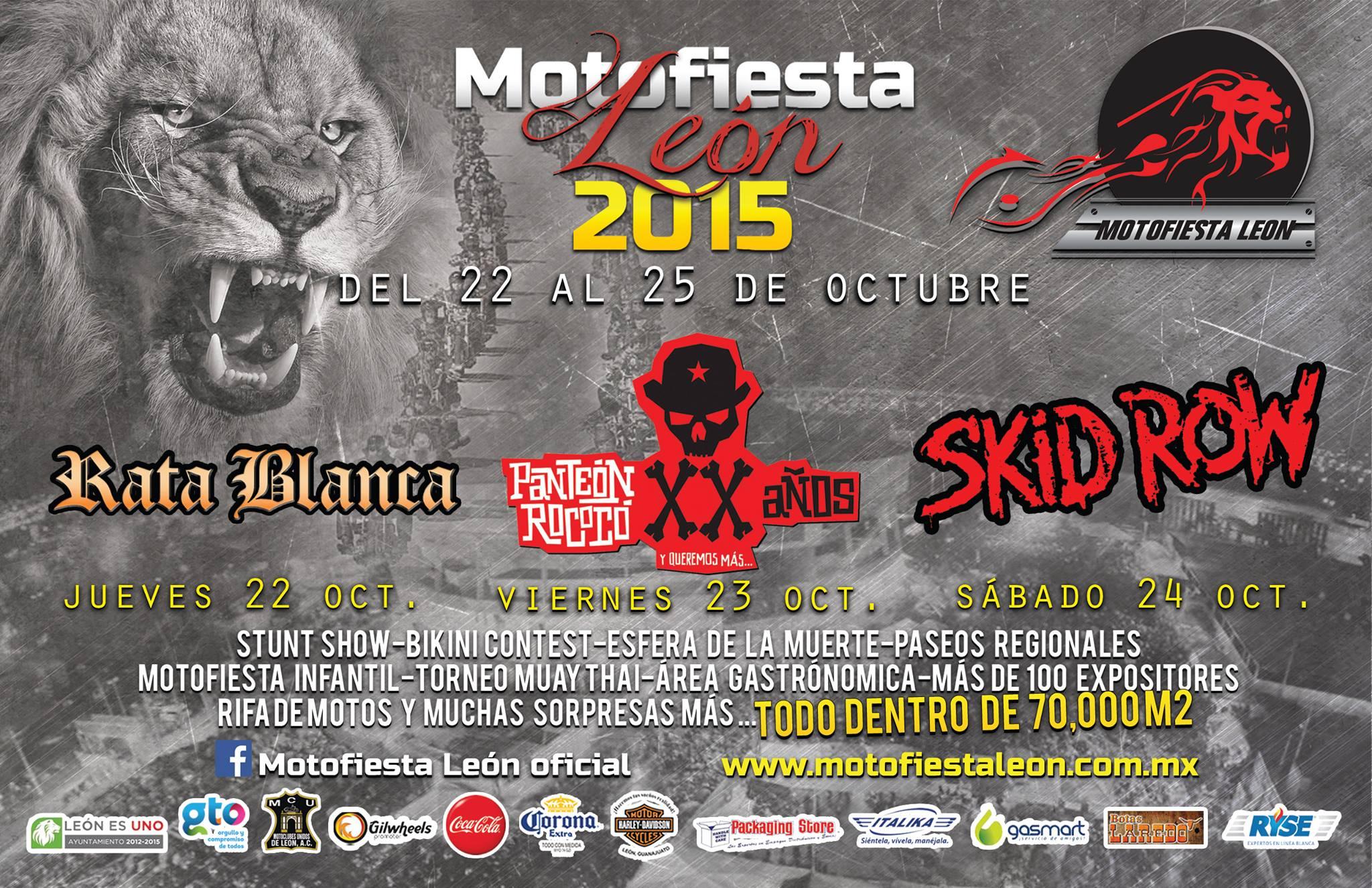 Skid Row en Motofiesta León 2015