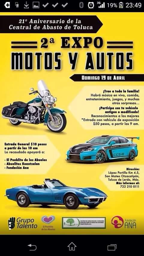 2° Exposición de Motos y Autos antigüos en Toluca de Lerdo