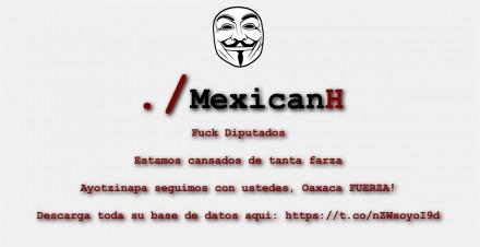 Anonymous hackea página web de la Cámara de Diputados; revela contratos millonarios