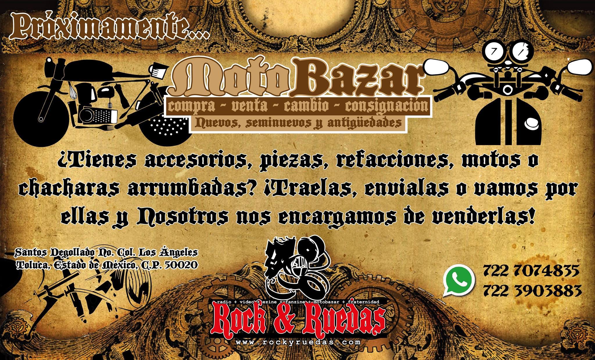 Próximamente MotoBazar de Rock & Ruedas en Toluca