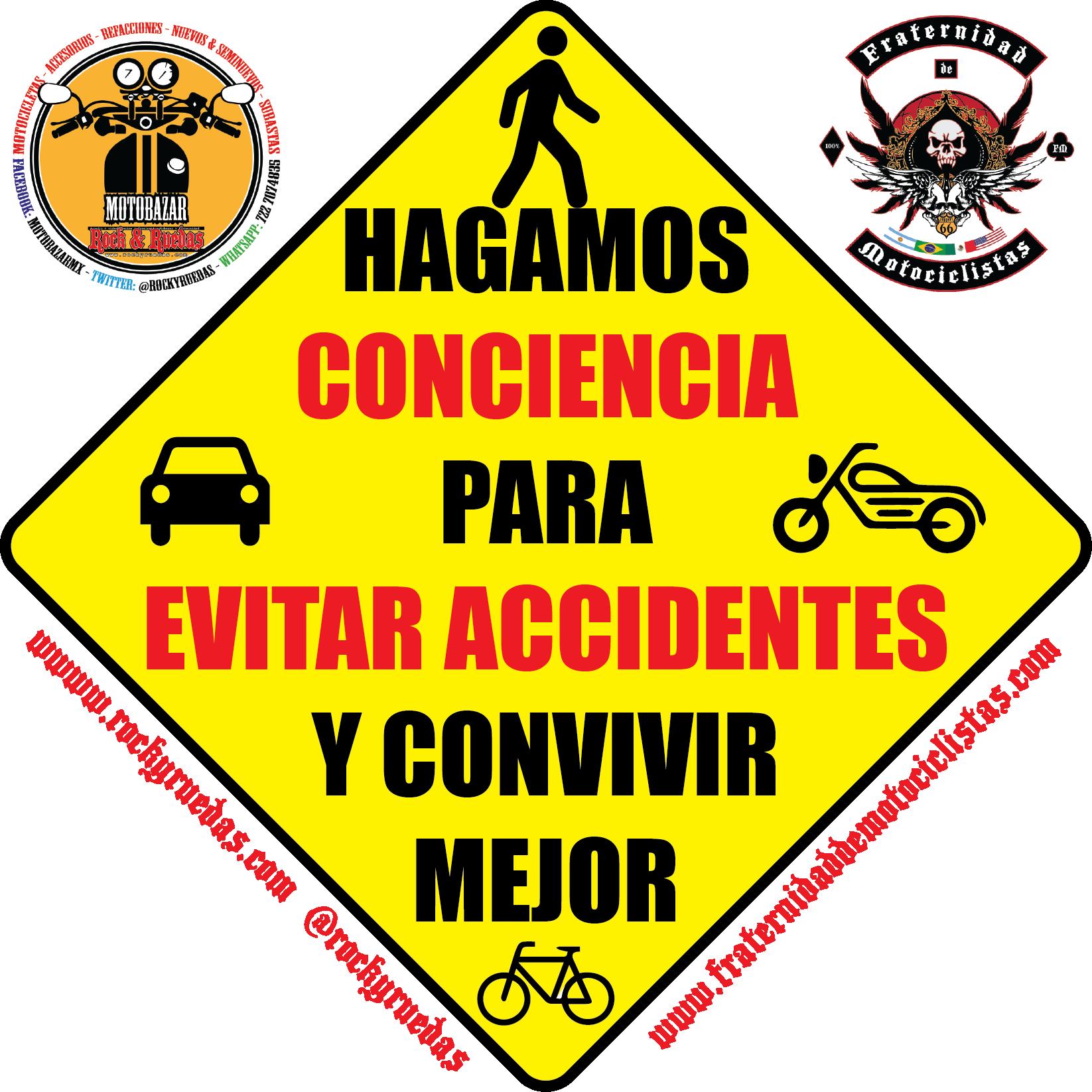 Hagamos conciencia para evitar accidentes y convivir mejor
