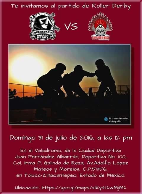 Partido de Roller Derby Querétaro vs Team Edo. de México