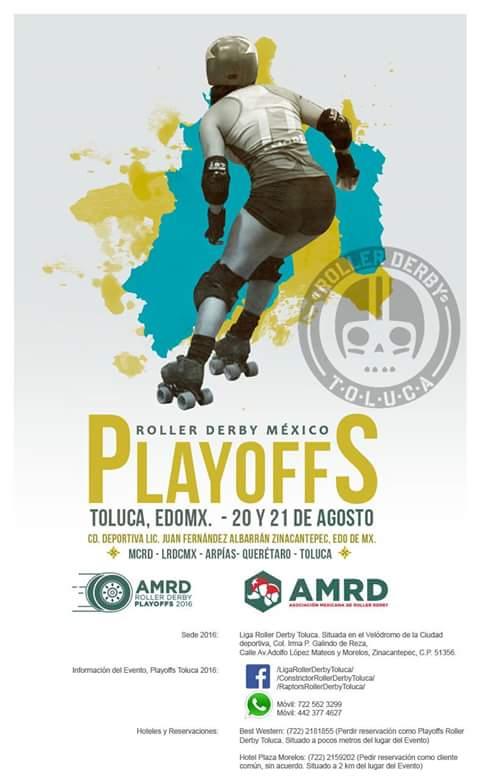 Ya vienen los Playoffs Nacionales de Roller Derby en Toluca