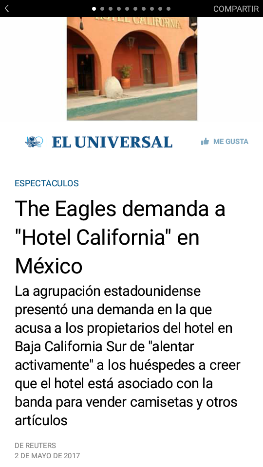 Eagles demanda al «Hotel California»: Excelsior