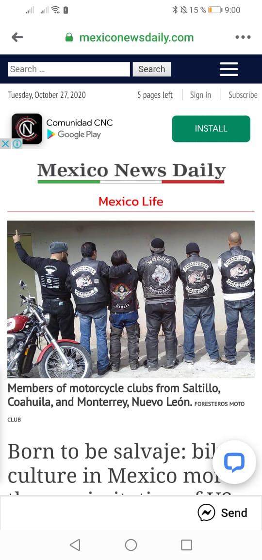Biker culture in México